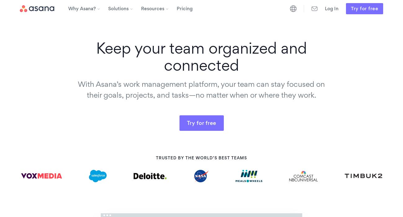 Asana website