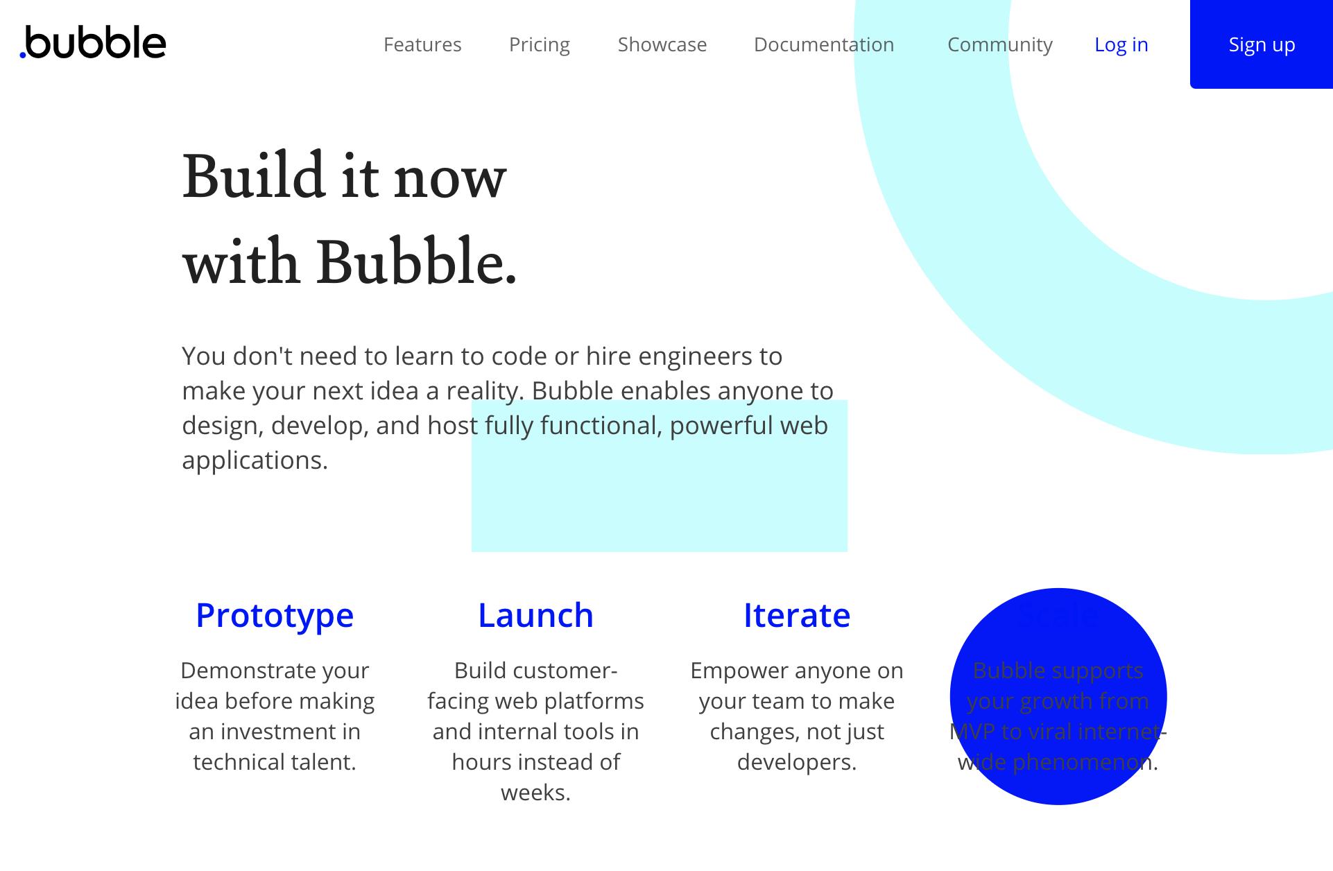Bubble website