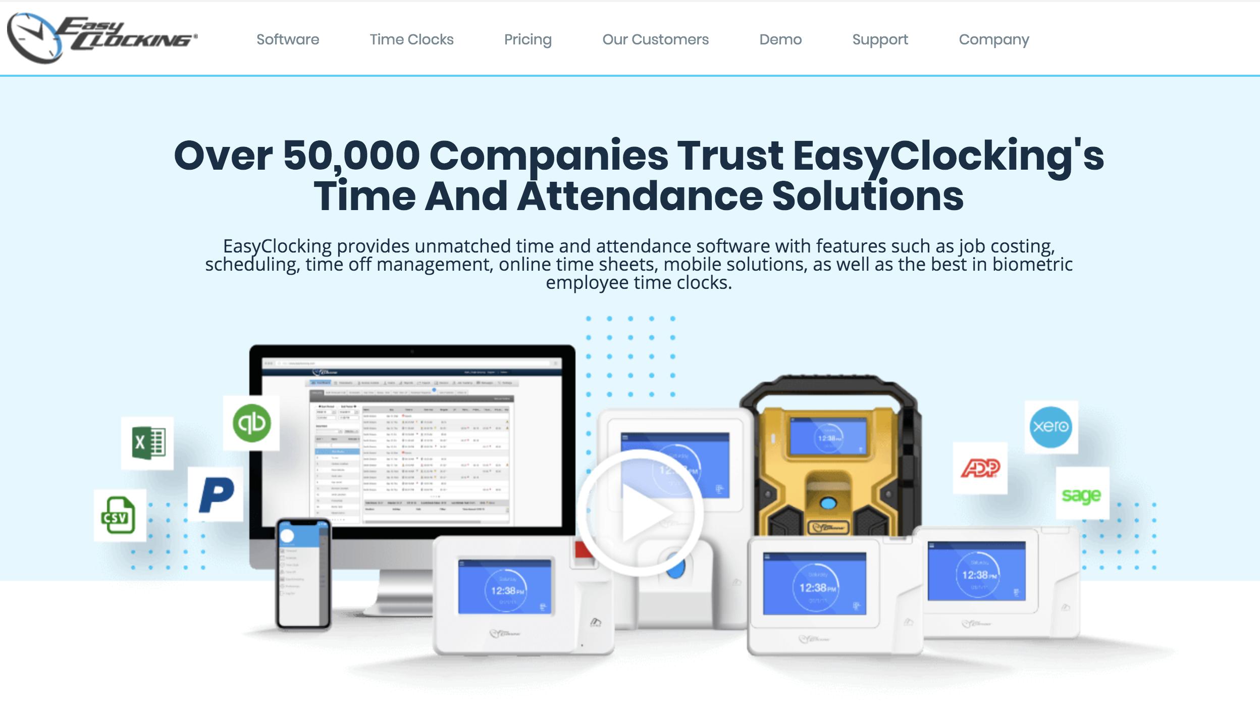 Easy Clocking website