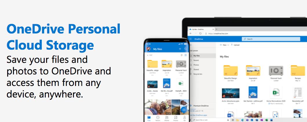 Microsoft OneDrive website